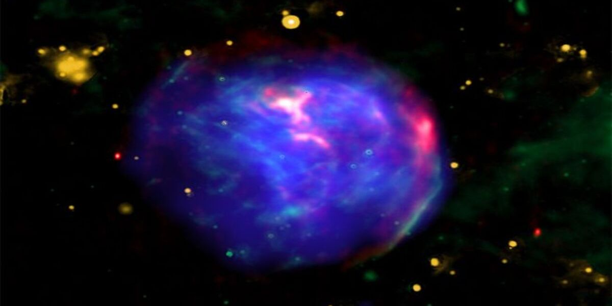 O uriașă bulă spațială dezvăluie undele de șoc inverse dintr-o explozie catastrofală de stele